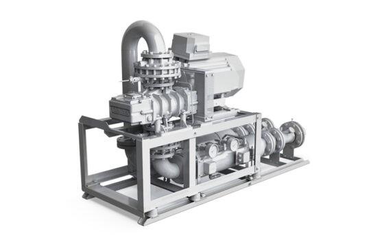 Gas blower units